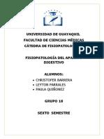 Fisiopatología II -Trastornos Aparato Digestivo - Grupo 18