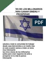 Las 5 Claves de Los Millonarios Judíos Para Ganar Dinero y Prosperar