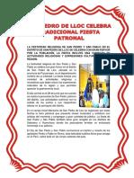 La Festividad Religiosa de San Pedro y San Pablo