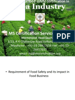Food Safety Certification in Indian Tea