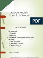 5. Analisis Kuantitatif Modern