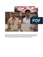 Certificates Given at the Task Force Manila Bay Forum to Affected Barangay During the Seminar by DILG