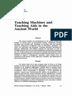 Teaching Machine in Ancient World