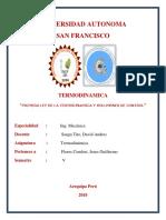 Primera Ley de La Termodinamica y Volumenes de Control
