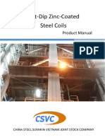 Hot-Dip Zinc-Coated Steel Coils