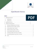Especificación Técnica - Automatizacion consumo de materiales