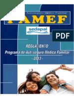 Reglamento y Plan de Beneficios PAMEF