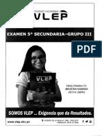 VLEP Examen 5to Gr 03-2018-I