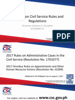 Updates on Civil Service Rules Regulations 2017