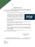 Affidavit of Loss TCT