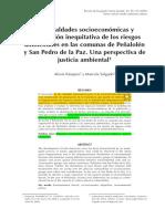 Desigualdades Socioeconomicas y Distribución Inequitativa de Los Riesgos
