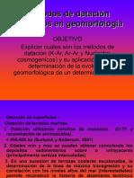 Dataciones K Ar, Ar Ar y Nucleidos Cosmogenicos