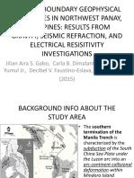 Terrane Boundary Geophysical Signatures in Northwest Panay,