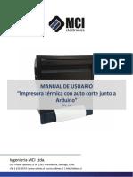 Impresora Termica Con Auto-corte