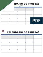Calendario Para Pruebas