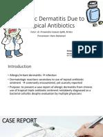 CSS - Allergic Dermatitis Due to Topical Antibiotics.ppt