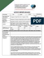 Activity Report Sample