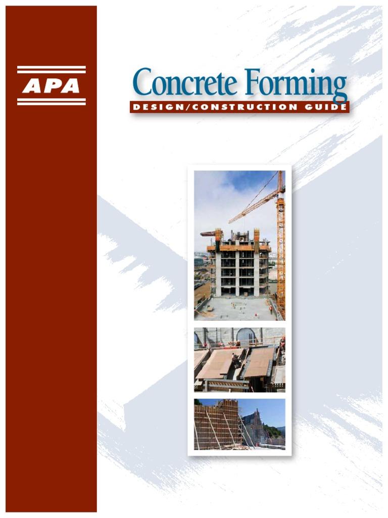 APA Concrete Forming Guide 0 | Plywood | Concrete
