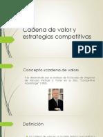 Cadena de Valor y Estrategias Genericas