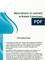 Measurement of Hardness of Rubber Compounds