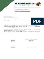 Surat Kesanggupan Bmt Cendrawasih