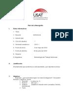 Plan de Monografía
