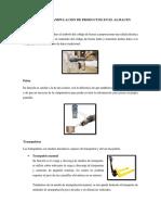 Elementos de Manipulacion de Productos en El Almacen
