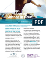 10 Steps for Presenting Evidence in Court