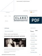 Claro Jazz Live Session - Claro - Beach Club - Restaurant