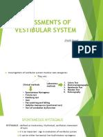 Assessment of Vestibular System