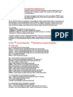 Log Curve and Parameter Mnemonics