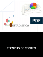 EstaDIStica...TECNICAS DE CONTEO