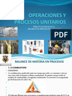 PRACTICAS N° 6 BALANCE DE MATERIA EN  PROCESOS UNITARIOS