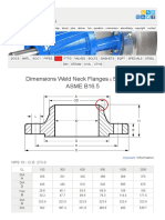 Dimensions of Weld Neck Flanges and Stud Bolts ASME B16.5 NPS 10
