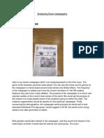 analysing three newspapers