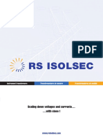 Catalogue Des Transformateurs de Mesure RS Isolsec Francais