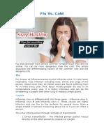 Flu Vs. Cold | Vikram ENT Hospital