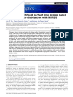 Analysis on Multifocal Contact Lens Design Based on Optical Power Distribution With NURBS