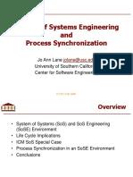 USC CSSE ARR SoSE Process Synchronization Mar 2008v2