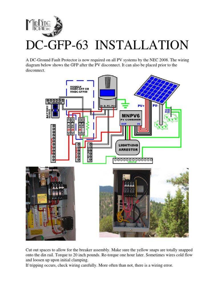 Gfp Install Solar Disconnect Wiring Diagram