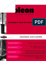 Personal Care Isostearic Acid & Esters