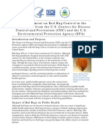Joint Statement on Bed Bug Control in the U.S.
