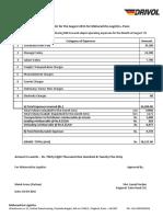 Expense Bills Claim Format