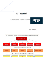 E-Tutorial - Dimensional Analysis