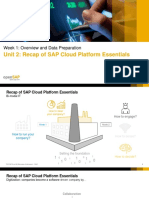 Unit 2 Recap of SAP Cloud Platform Essentials Slides