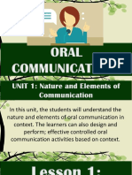 1 Nature and Elements of Communication