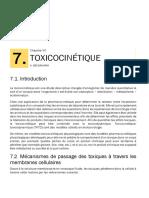 Toxicologie Générale -Toxicocinétique