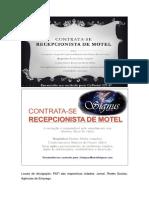 Descrição de cargo recepcionista de motel.docx