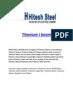 Titanium I Beam