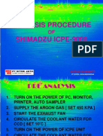 Analysis Procedure Icpe9000